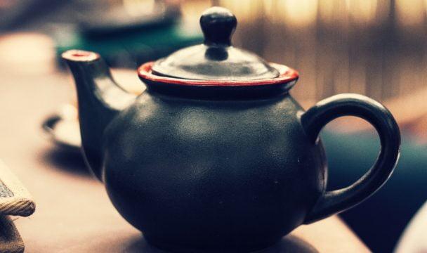 A teapot on a table